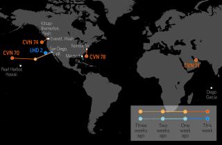 U.S. Naval Update Map: Jan. 18, 2018