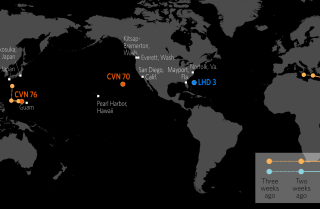 U.S. Naval Update Map: June 21, 2018