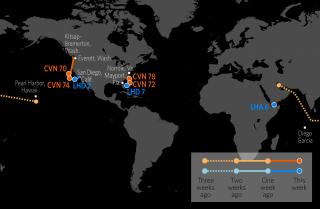 U.S. Naval Update Map: Nov. 9, 2017