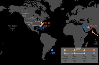 U.S. Naval Update Map: Dec. 7, 2017