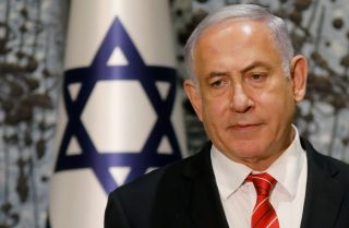 Israeli Prime Minister Benjamin Netanyahu speaks during a news conference in Jerusalem on Sept. 25, 2019.