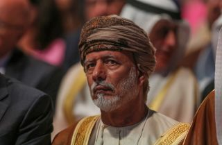 Omani Foreign Ministar Yusuf bin Alawi bin Abdullah at the 2019 World Economic Forum on the Middle East and North Africa in Jordan on April 6, 2019.