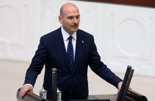 Turkish Interior Minister Suleyman Soylu is pictured here in Ankara, Turkey, on July 10, 2018.