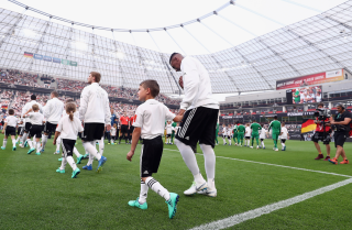 The German and Saudi Arabian teams prepare for an international friendly match ahead of the FIFA World Cup in Russia.