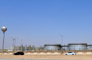 This photo shows a Saudi Aramco facility just outside Riyadh.