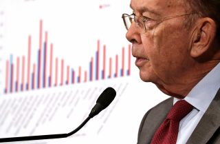 U.S. Commerce Secretary Wilbur Ross delivers a speech in May 2018.