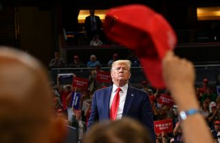 U.S. President Donald Trump officially launches his 2020 reelection campaign with a rally in Orlando, Florida, on June 18, 2019.