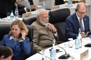 Indian Prime Minister Narendra Modi at the G20 in Japan.