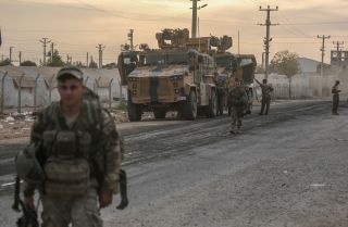 Turkish forces in Akcakale, Turkey near the Syrian border.