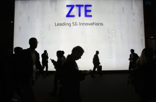 A Feb. 27, 2018, display for ZTE during the Mobile World Congress in Barcelona, Spain.