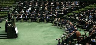 """Iranian President Hassan Rouhani presents the budget for the fiscal year that starts in late March 2020 on Dec. 8, 2019. Rouhani described it as a """"budget of resistance"""" against crippling U.S. sanctions."""
