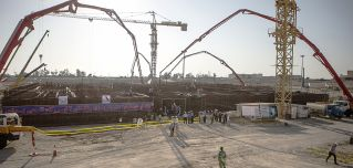 Construction of a second phase at Iran's Bushehr nuclear power plant, part of the Iranian civilian nuclear program, continues.