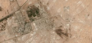 A satellite image from April 18, 2012, shows Abqaiq in eastern Saudi Arabia.