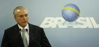 President Michel Temer delivers a statement in Brasilia, Brazil. A new round of corruption accusations against him comes at a crucial time for Mercosur in its talks with the European Union.