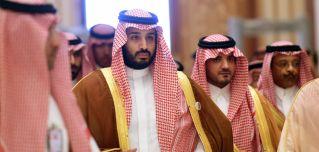 Saudi Defense Minister Mohammed bin Salman (C) attends a summit in Riyadh in 2015.