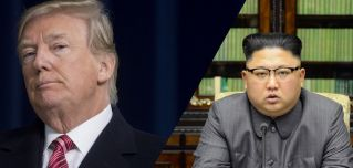 U.S. President Donald Trump and North Korea's Kim Jong Un.