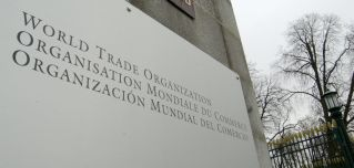 File photo of the entrance of the World Trade Organization's headquarters in Geneva.