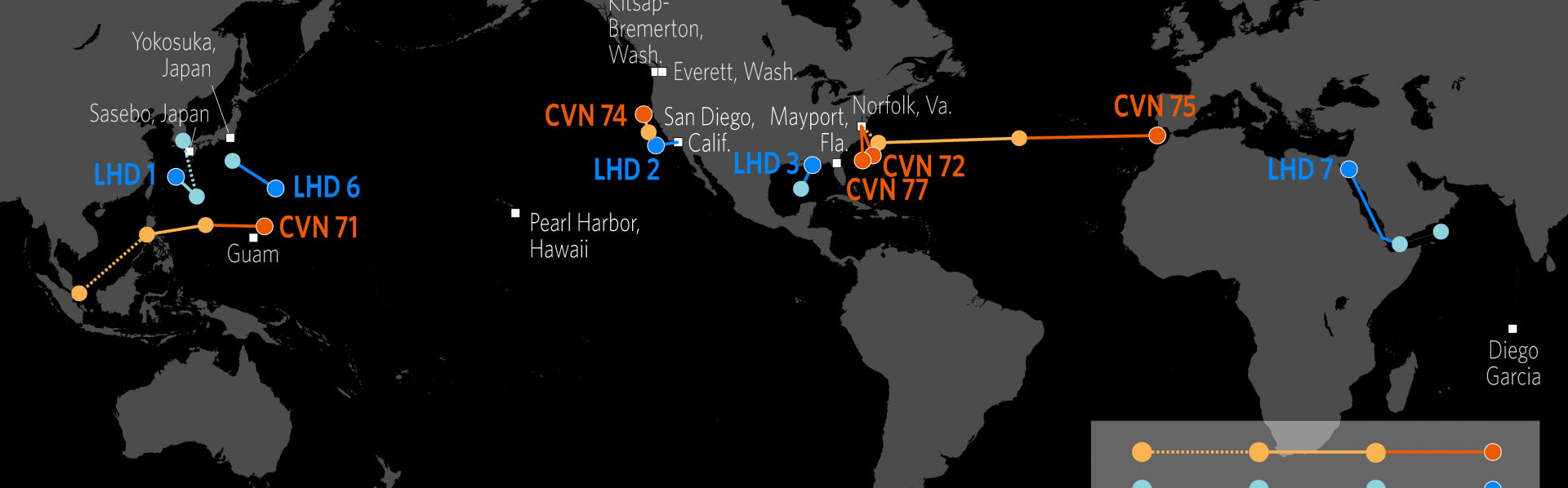 Beautiful Us Carrier Strike Groups Locations Map Pics - Printable ...