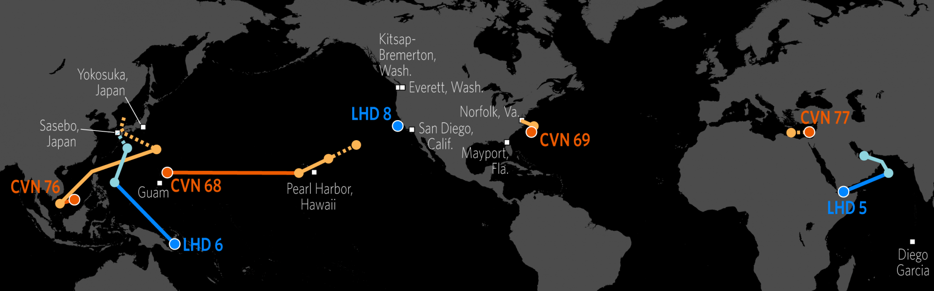 US Naval Update Map June 29 2017 Stratfor Worldview