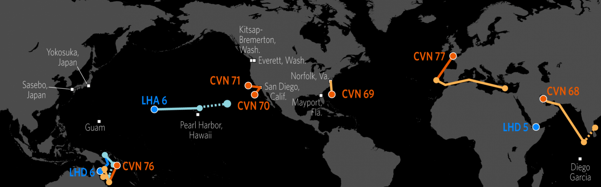 US Naval Update Map Aug Stratfor Worldview - Us navy ships aircraft carriers movement stratfor maps
