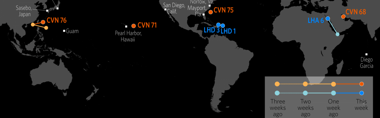 US Naval Update Map Oct 12 2017