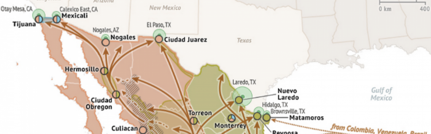 Obregon Mexico Map.Areas Of Cartel Influence In Mexico