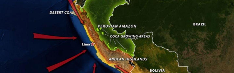 Peru's Geographic Challenge on economic map of peru, topographical map of peru, geologic map of peru,