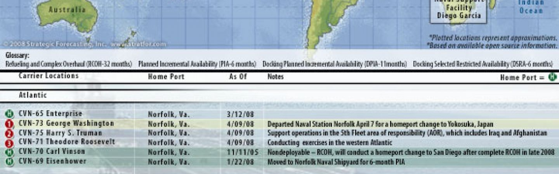 U S  Naval Update Map: April 9, 2008