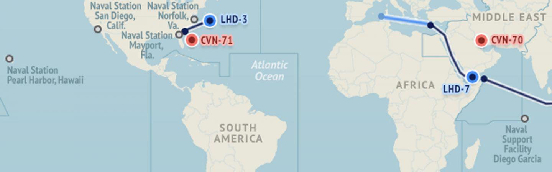 U.S. Naval Update Map: Jan. 15, 2015