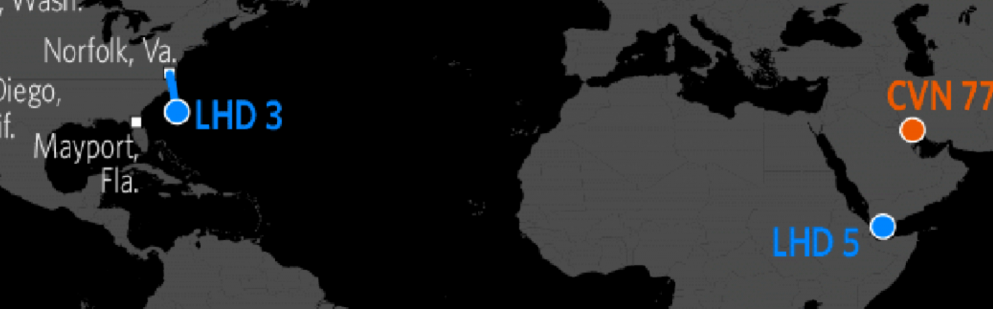 Tracking US Naval Power Stratfor Worldview SUPSHIP Location Map