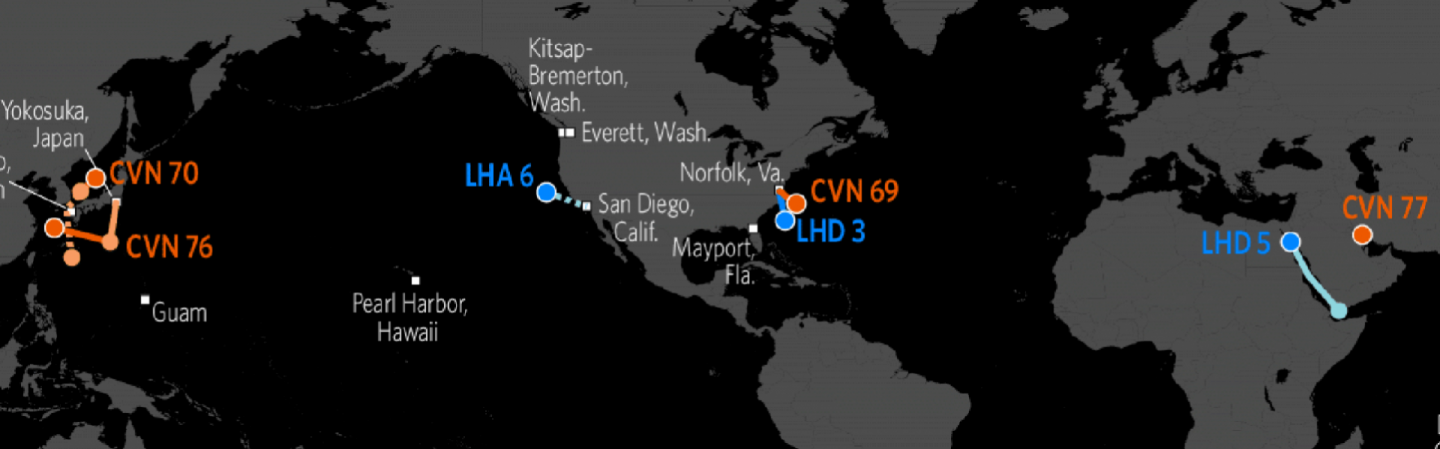US Naval Update Map May Stratfor Worldview - Map of us fleet deployment