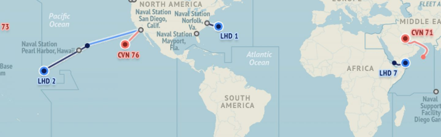US Naval Update Map May Stratfor Worldview - Us navy fleet map