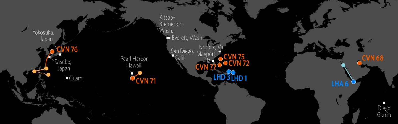 U.S. Naval Update Map: Oct. 19, 2017