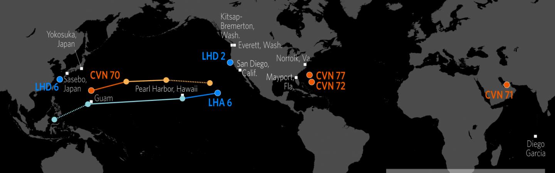 U S  Naval Update Map: Feb  1, 2018