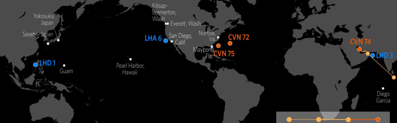 U.S. Naval Update Map: April 4, 2019