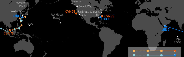 U.S. Naval Update Map: Sept. 6, 2018