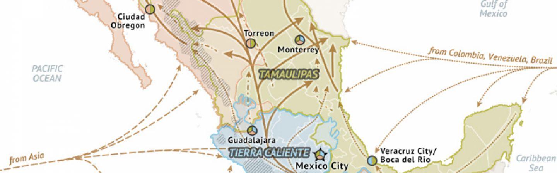 Obregon Mexico Map.Mexico Cartel Map 2015