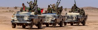 Military units from Western Sahara's military forces wait to begin maneuvers in Mehaires, Western Sahara, on Jan. 6, 2019.