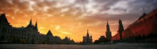 Moscow Red Square Sunset