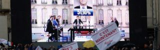 Supporters of French President-elect Francois Hollande in Tulle, France, on May 6, 2012.