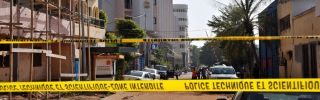Police tape cordons off the street of the Radisson Blu hotel in Bamako on Nov. 21, 2015, a day after the deadly jihadist siege at the luxury hotel.