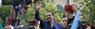 Lebanese Prime Minister Saad al-Hariri arrives in Beirut on Nov. 22, after a strange weekslong odyssey during which he resigned his post from Saudi Arabia.