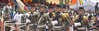 French soldiers march in a military parade in Dakar, Senegal, in April 2010.