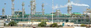 Oil fields near Tripoli, Libya.