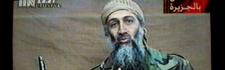 A videotape released by Al-Jazeera TV featuring Osama Bin Laden is broadcast Dec. 27, 2001.