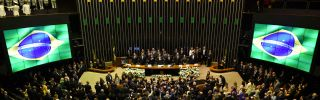 General view of the National Congress before Jair Bolsonaro's Jan. 1, 2019, swearing into the presidency in Brasilia.