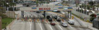 Cars head into U.S.-Mexico border crossing in San Ysidro, California.