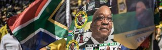 An African National Congress rally July 31 in Johannesburg, South Africa, aimed at shoring up support in advance of Aug. 3 municipal elections. A poor showing in those races could bode ill for the ruling ANC and its leader, President Jacob Zuma.