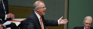 New Australian Prime Minister Scott Morrison speaks during question time in the House of Representatives in Canberra on Sept. 13.