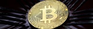 A visual representation of bitcoin, the digital currency created and exchanged independent of banks and governments.